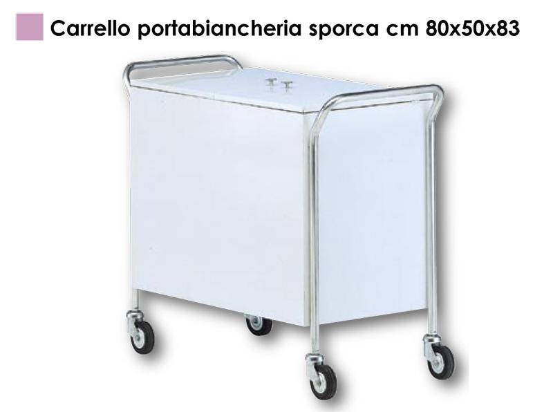Portabiancheria Sporca Acciaio.Carrello Portabiancheria Sporca Cm 80x50x83 Medical
